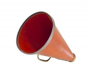 Vintage megaphone from the 1920s